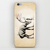 iPhone & iPod Skin featuring Knowing The Deer Tree by Rafapasta