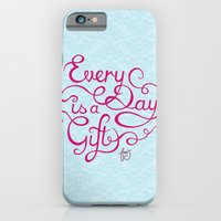 iPhone & iPod Case featuring Every Day is a Gift II by Junoon Designs