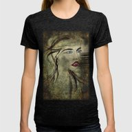 Vampire Sucubus Womens Fitted Tee Tri-Black SMALL