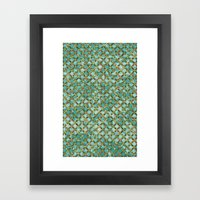 Between Crooked Sheets Framed Art Print