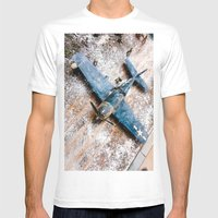 Airplane Mens Fitted Tee White SMALL