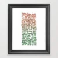 Autumn City Framed Art Print