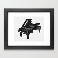 Music Is The Key B Framed Art Print