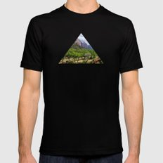 Valley cliffs 4 SMALL Mens Fitted Tee Black