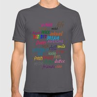 Sweet Awesome Chill Mens Fitted Tee Asphalt SMALL