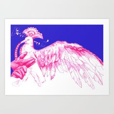 Like Soaring Thru the Heavens in Magenta Art Print