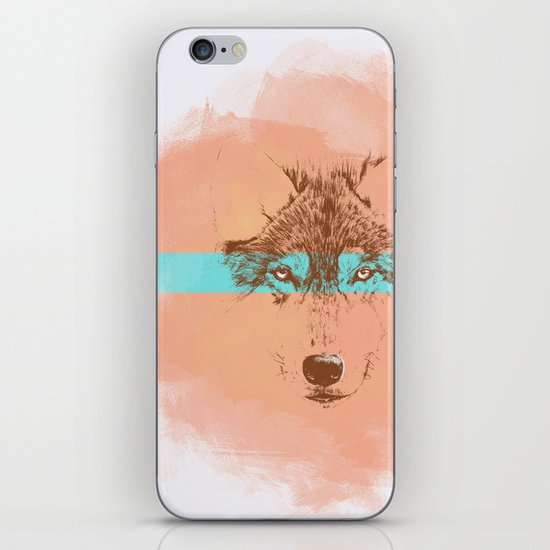 The Blue Eyed Wolf iPhone & iPod Skin