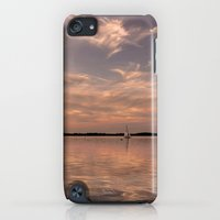 iPod Touch Cases featuring Evening at a lake by UtArt