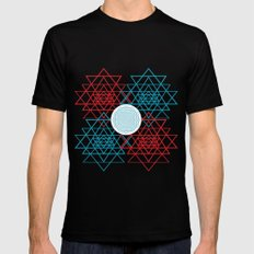 Geometrical 001  SMALL Mens Fitted Tee Black