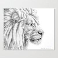 Lion's mane G006 Canvas Print