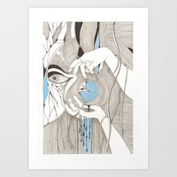 Small Blue Thing Art Print