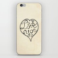 I Love You Sketch iPhone & iPod Skin