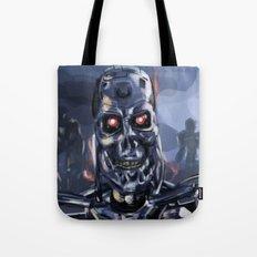 Speed Portraits: Terminator T-800 Tote Bag