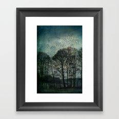 Textured Trees Framed Art Print