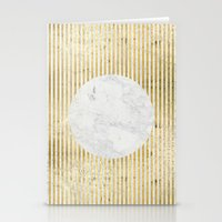 inverse gOld sun Stationery Cards