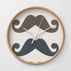 Stache Attack Wall Clock