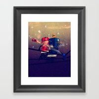 Amateurs Framed Art Print