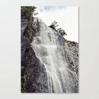 Waterfall Disperses Against the Rocks Canvas Print