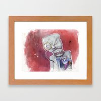 Over Capacity Framed Art Print