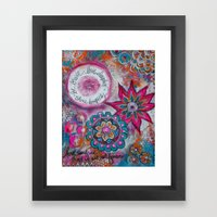 Be Brave. Love Deeply. Shine Brightly. Framed Art Print
