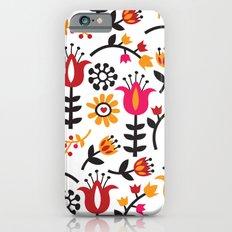 Retro Scandinavian Flowe… iPhone 6 Slim Case
