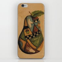 Crazy Quilt Pear iPhone & iPod Skin