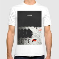 M. Mens Fitted Tee White SMALL