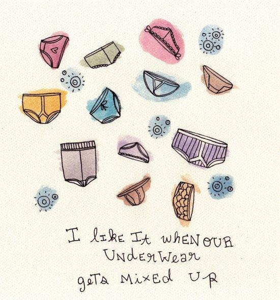 Underwears Art Print