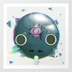 Chibi Pop The Dinosaur Art Print