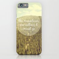 iPhone & iPod Case featuring The Mountains Are Callin… by Jillian Audrey