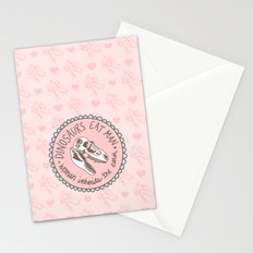 Dinosaurs eat man, woman inherits the earth Stationery Cards