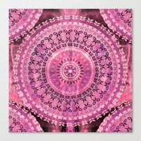 Rose Mandala Canvas Print