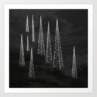 Towers. Art Print