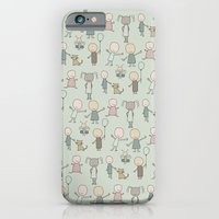 iPhone & iPod Case featuring Children Playing-on Mint by ts55