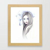 Wolf Shadow Framed Art Print