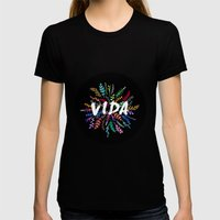 Vida Womens Fitted Tee Black SMALL