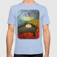 Earth-and-Sky Mens Fitted Tee Tri-Blue SMALL