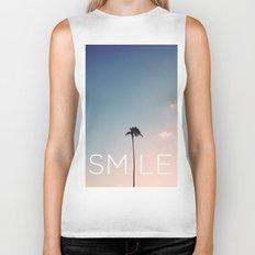 Palm tree Smile Biker Tank
