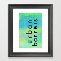 Urban Barrel Type Framed Art Print