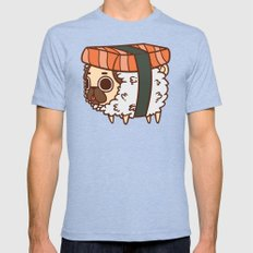 Puglie Salmon Sushi Mens Fitted Tee Tri-Blue SMALL