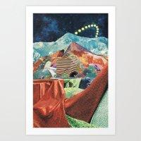 THE MELTING WALL (3) Art Print
