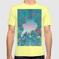 CALI VIBES Mens Fitted Tee Lemon SMALL
