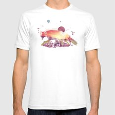 Woodlands Fox Mens Fitted Tee SMALL White