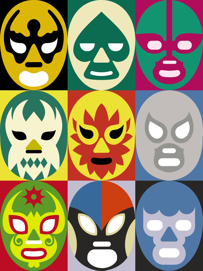 Lucha Libre 1 Art Print by Scott Partridge | Society6