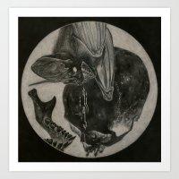 Totenkopf Und Fledermaus… Art Print