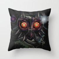 Legend Of Zelda Majora's… Throw Pillow
