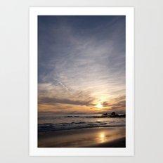 Crescent Beach Sunset  Art Print