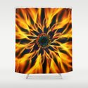Flaming Love Flower Shower Curtain