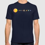 The Solar System Mens Fitted Tee Navy SMALL