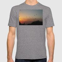 Migrating Birds Mens Fitted Tee Tri-Grey SMALL